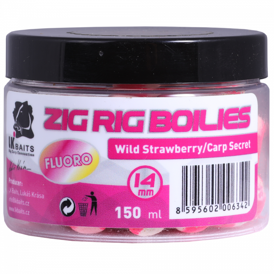 LK Baits Zig Rig Boilie Wild Strawberry/Carp Secret 14mm, 150 ml