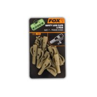 FOX Edges Lead clips & pegs size 7 khaki