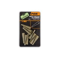FOX Edges Safety lead clip tail rubbers size 7 khaki
