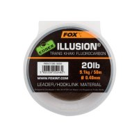 Fox Edges Illusion Fluorocarbon leader 50m Trans Khaki