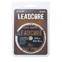 ESP LEADCORE BULK Spool Camo Brown  45 Lb. 25 m